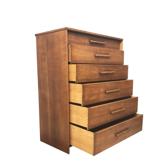 John Stuart Mid Century Modern Tall Dresser by John Stuart for Johnson Furniture For Sale - Image 4 of 13