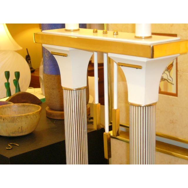 Monumental High Style Modernist Columnar Lamp Parzinger Style. - Image 8 of 8