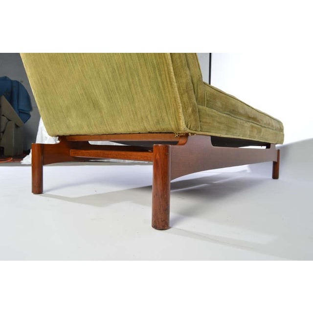 Important Gerald Luss for Lehigh Chaise Lounge Chair in Walnut, Circa 1950 For Sale - Image 9 of 11