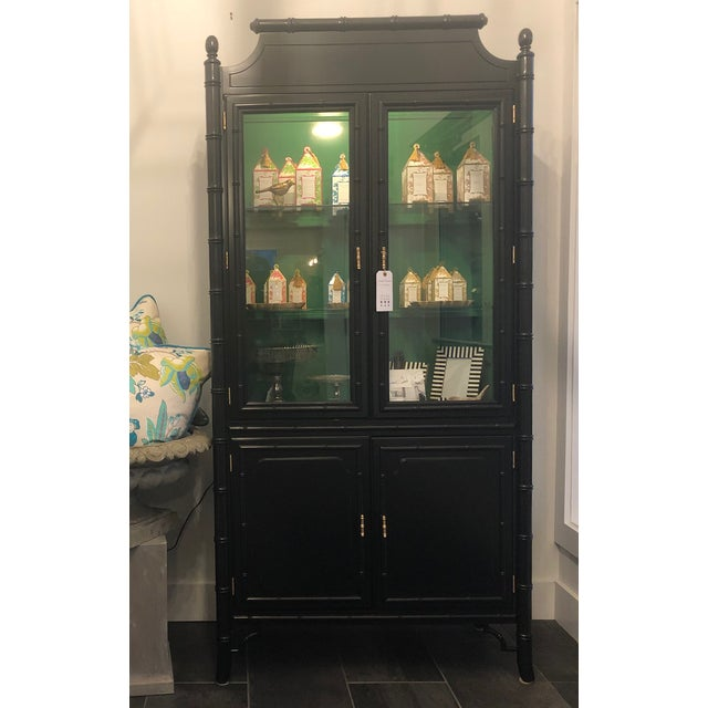1950s Mid-Century Modern Bamboo China Cabinet For Sale - Image 11 of 11