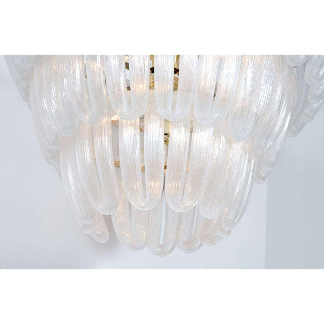 Hand Blown Glass Loop Chandelier after Barovier & Toso For Sale In New York - Image 6 of 10
