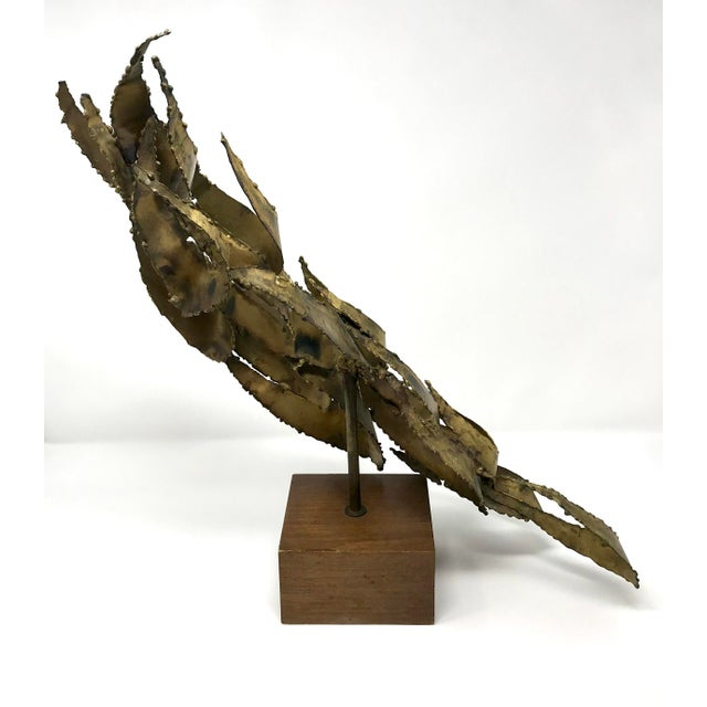 1960s Brutalist Bijan Brass Abstract Sculpture For Sale In Sacramento - Image 6 of 12