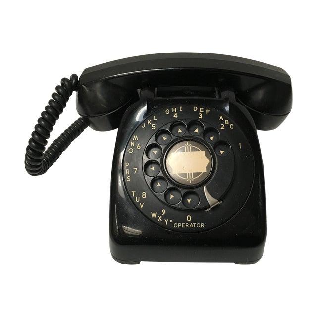 Vintage Leich Black Bakelite Dial Telephone - Image 1 of 9