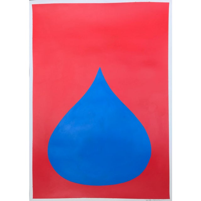 Fat Drop of Superman Blue on Red by Stephanie Henderson - Image 2 of 4