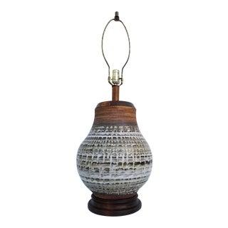 1970's Boho Chic Studio Pottery Table Lamp