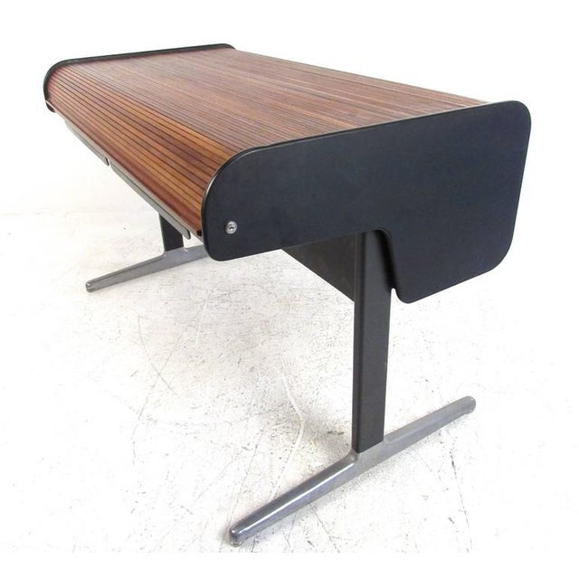 1960s George Nelson for Herman Miller Mid-Century Tambour Roll-Top Desk For Sale - Image 5 of 9