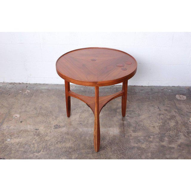 Edward Wormley Dunbar Janus Table by Edward Wormley With Natzler Tiles For Sale - Image 4 of 12