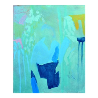 Abstract Painting, She Wore Blue and a Thousand Watt Smile For Sale