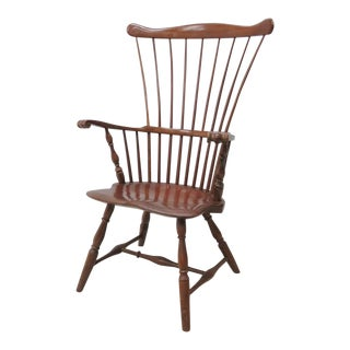 Robert T. Hogg Chester County Walnut Windsor Chair For Sale