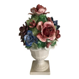 Capodimonte Style Porcelain Flower Arrangement