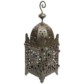 Moroccan Hurricane Metal Candle Lantern For Sale