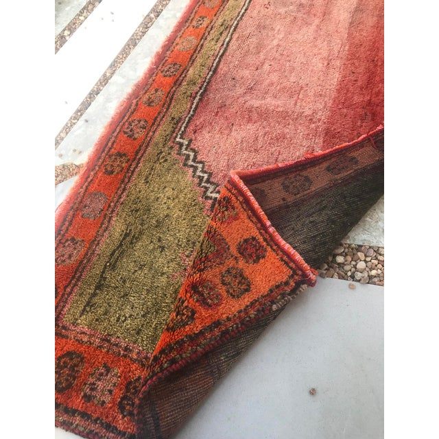 """Hand Made Vintage Small Turkish Runner- 2'1"""" X 4'5"""" For Sale - Image 9 of 10"""
