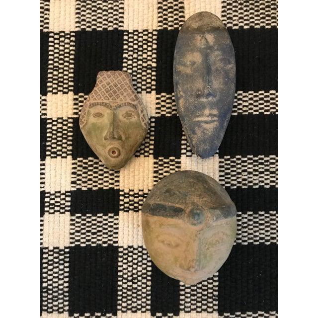 Blue Vintage Decorative Heads- Set of 3 For Sale - Image 8 of 8