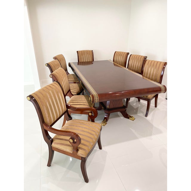 Custom Furniture Builders Versace Style Dining Set-Set of 9 For Sale - Image 12 of 13