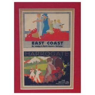 Framed Vintage British Railway Ad East Coast