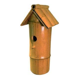 Vintage Bamboo Stalk Birdhouse