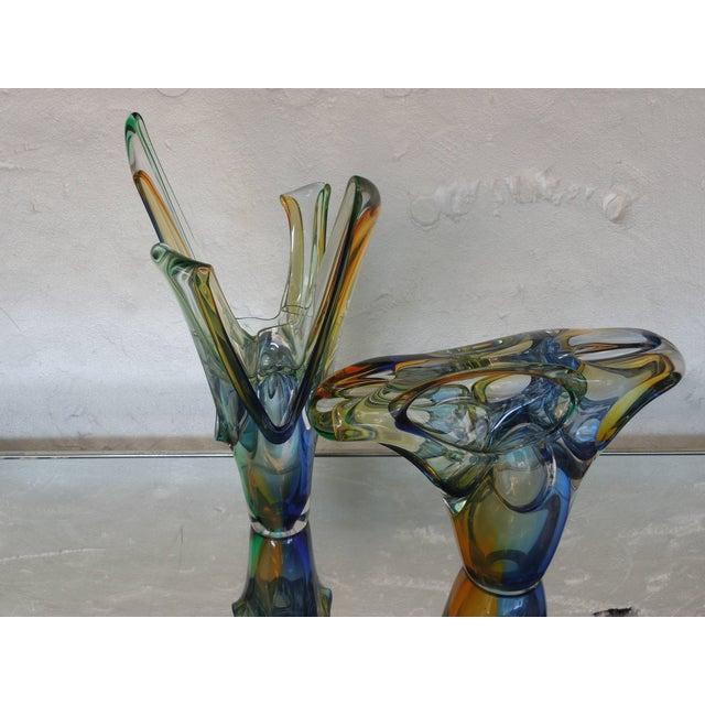 Modern Multi-Color Polish Modern Art Crystal Glass Sculpture For Sale - Image 3 of 6