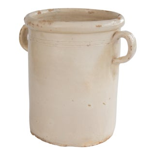 Large Antique Italian Confit Pot