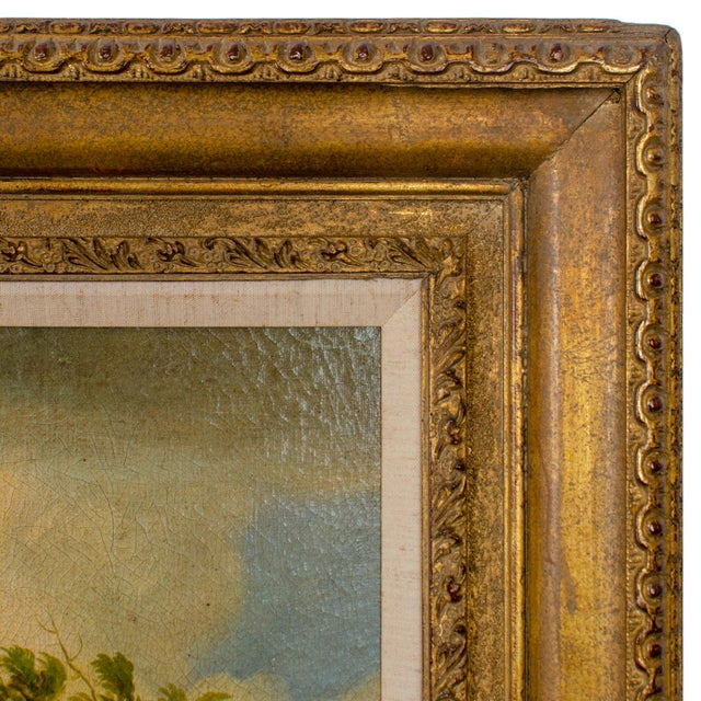 Early 20th Century Antique Buson Italianate Landscape Painting For Sale In Savannah - Image 6 of 10