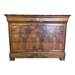 19th Century Traditional Walnut Chest For Sale