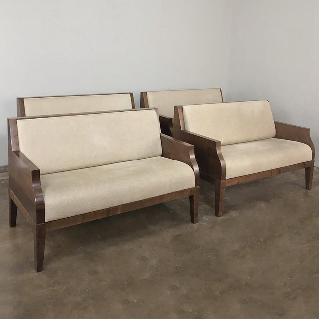 Wood Designer Table & 4 Matching Benches by Christian Liaigre For Sale - Image 7 of 13