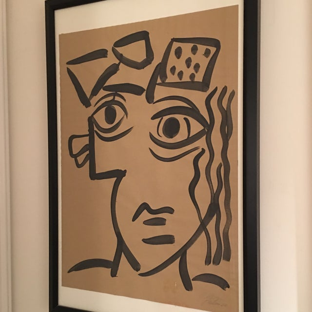 Abstract 1964 Cubist Abstract Face Painting by Peter Keil For Sale - Image 3 of 8