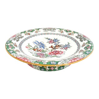 1860 Minton Chinoiserie Style Footed Serving Plate For Sale