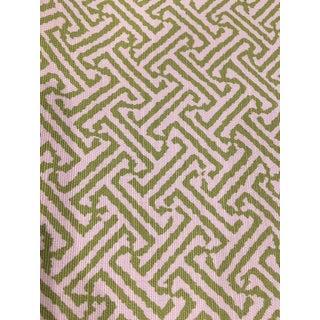 "Quadrille China Seas ""Java"" Jungle Green on Tint Fabric For Sale"