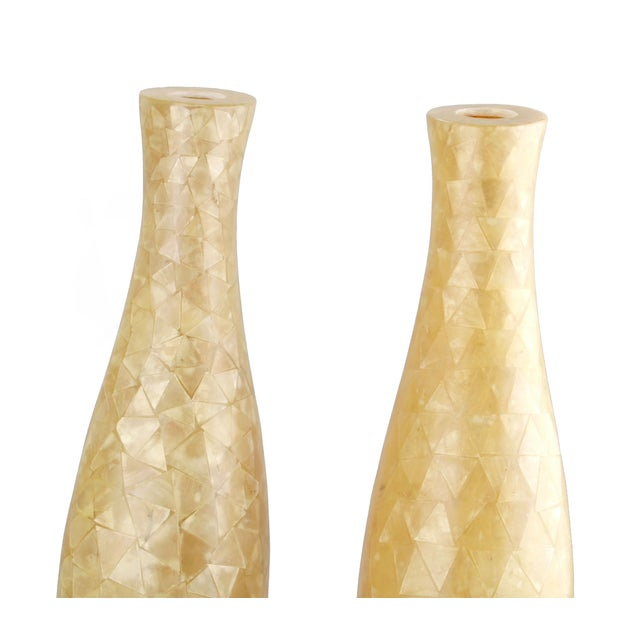 Capiz Shell Vases - A Pair - Image 3 of 9