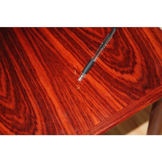 Red Henning Kjærnulf for Vejle Stole Rosewood Side Tables - A Pair For Sale - Image 8 of 10