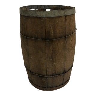 Vintage Rustic Wood Nail Keg Barrel For Sale