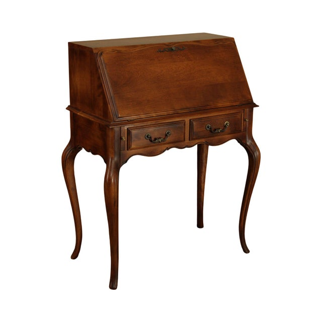 Ethan Allen Country French Slant Front Writing Desk For Sale - Image 13 of 13