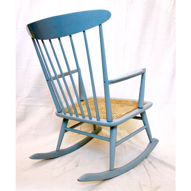 Vintage Mid Century Danish Modern Rocking Chair For Sale - Image 4 of 9