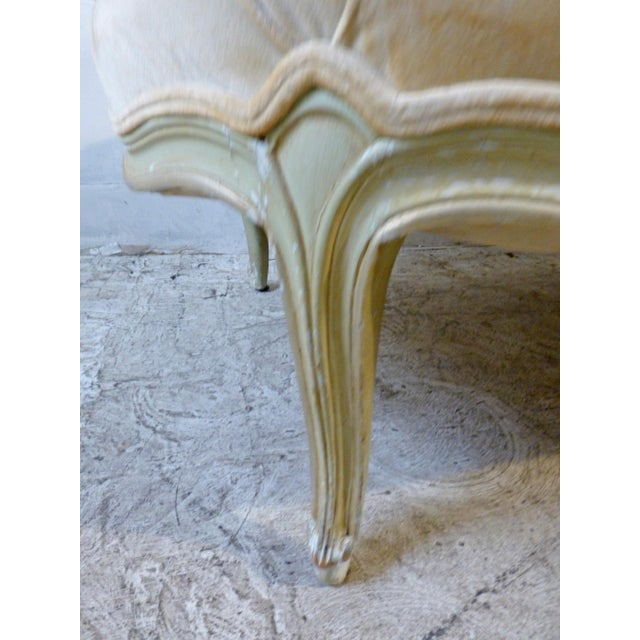 Classic 1960s Shabby Chic French Custom Chaise - Image 3 of 7