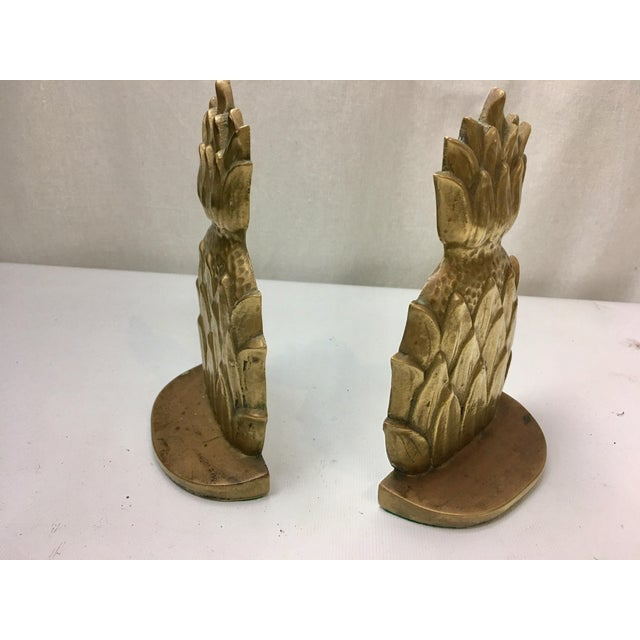 Brass Pineapple Bookends - A Pair - Image 4 of 4