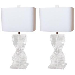 Mid-Century Lucite Lamps
