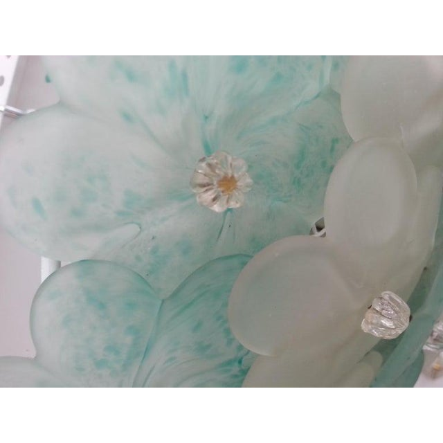 Mid 20th Century Mid-Century Modern Murano Flush Mount Chandelier Floral For Sale - Image 5 of 12