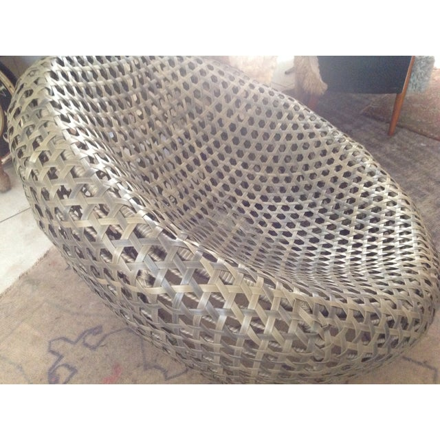Modernist Rattan Wire Chair - Image 8 of 11