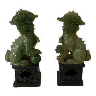 Vintage Resin Foo Dogs - a Pair For Sale