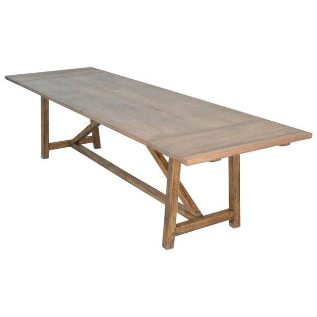Rustic Extendable Dining Table in Vintage Oak For Sale - Image 11 of 11