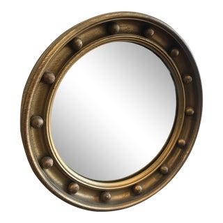 Antique Gilt Wooden Porthole Mirror