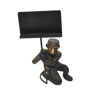 Vintage Monkey Butler Monkey Business Card Holder
