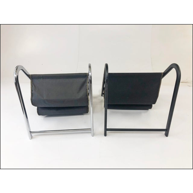 Vintage Mid Century Modern Sling Style Magazine Racks - a Pair For Sale - Image 10 of 11