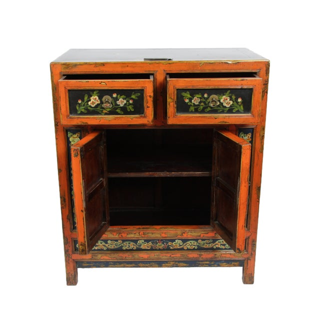 Small Mongolian Painted Cabinet - Image 3 of 4