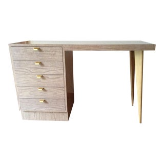 1960s Mid Century Modern Maple and Formica Laminate Writing Desk For Sale
