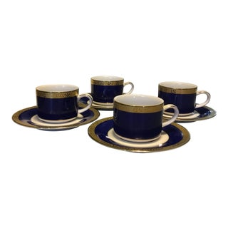 Royal Gallery Gold Buffet Demitasse Cups & Saucers - Service for 4