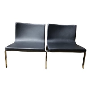 Blu Dot Stella Lounge Chairs - A Pair For Sale