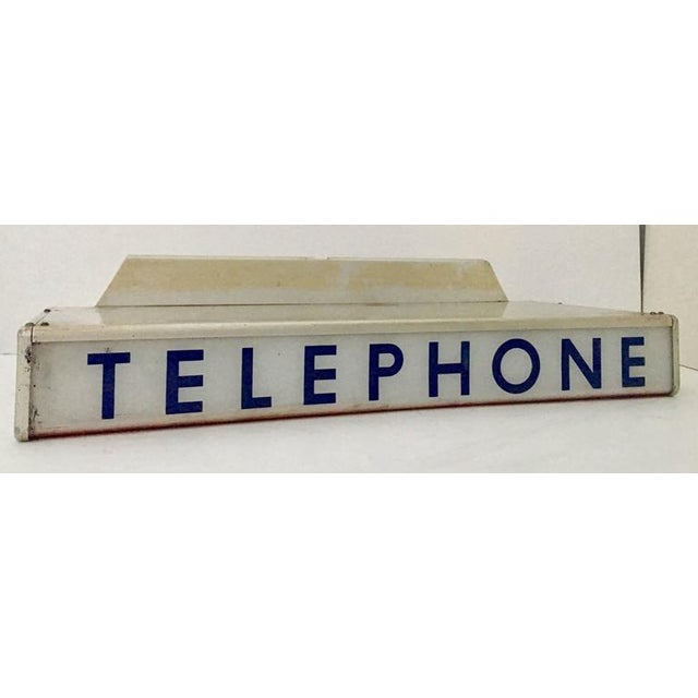 1930s Western Electrical Co. Telephone Booth Light Box Sign - Image 4 of 9