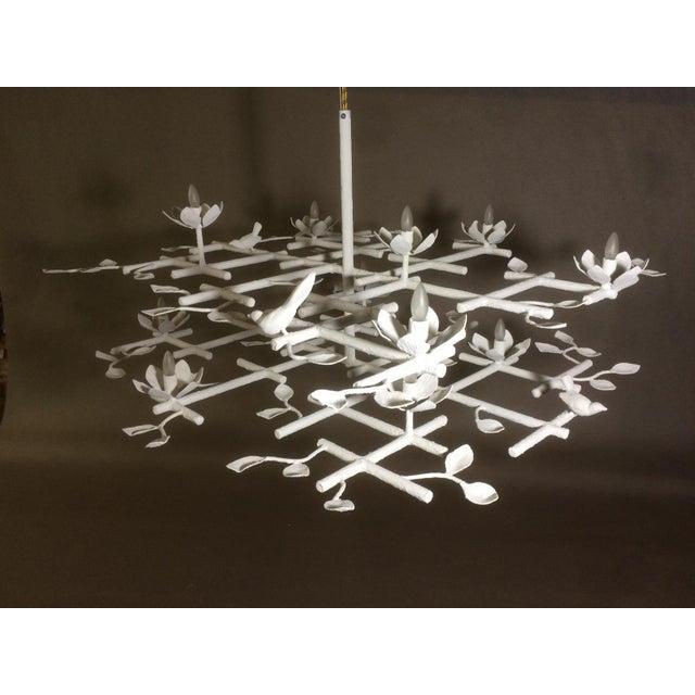 Metal 2 Layer Garden Chandelier For Sale - Image 7 of 13