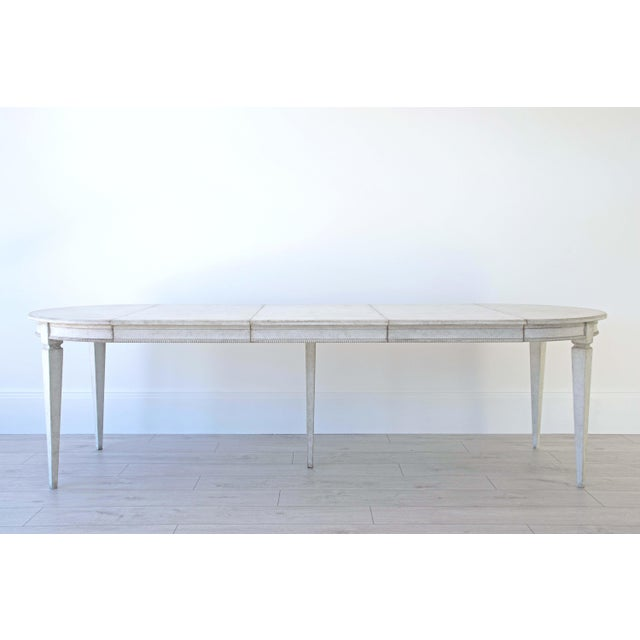Märta Gustavian Extension Dining Table For Sale - Image 10 of 11